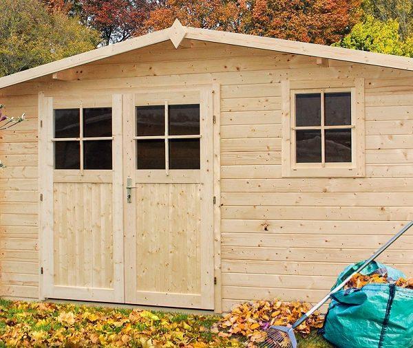 domek drewniany narcyz