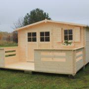 Domek drewniany narcyz_calosc