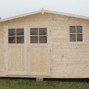 Domek drewniany narcyz_front