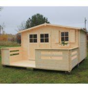 Domek drewniany narcyz1