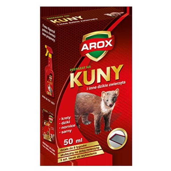 AROX preparat odstraszający kuny i inne dzikie zwierzęta + tacki