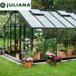 szklarnia duńska juliana model gardener 16,2 m2 czarny