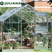 szklarnia duńska juliana model junior 9,9 m2 srebrna
