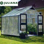 szklarnia duńska juliana model premium 8,8 m2 srebrna poliwęglan