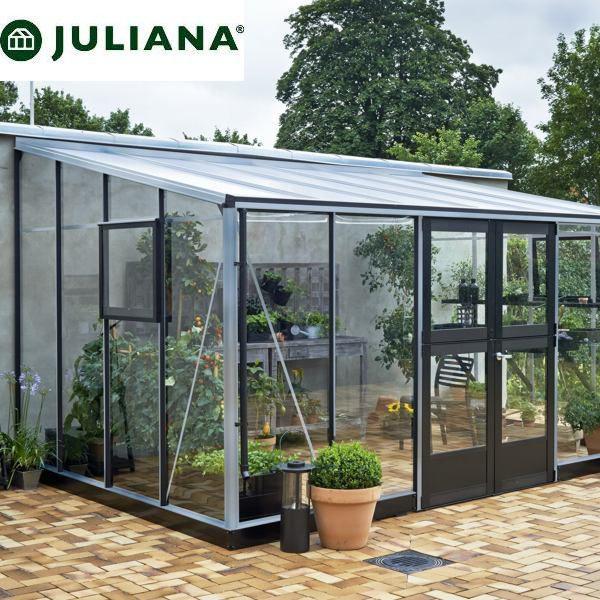szklarnia duńska juliana model veranda 12,9 m2 srebrna