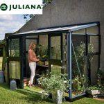 szklarnia duńska juliana model veranda 4,4 m2 czarna