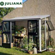 szklarnia duńska juliana model veranda 4,4 m2 srebrna