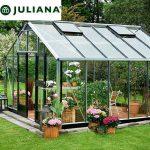 szklarnia juliana duńska model gardener 16,2 m2 srebrna