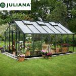 szklarnia juliana duńska model gardener 18,8 m2 czarna