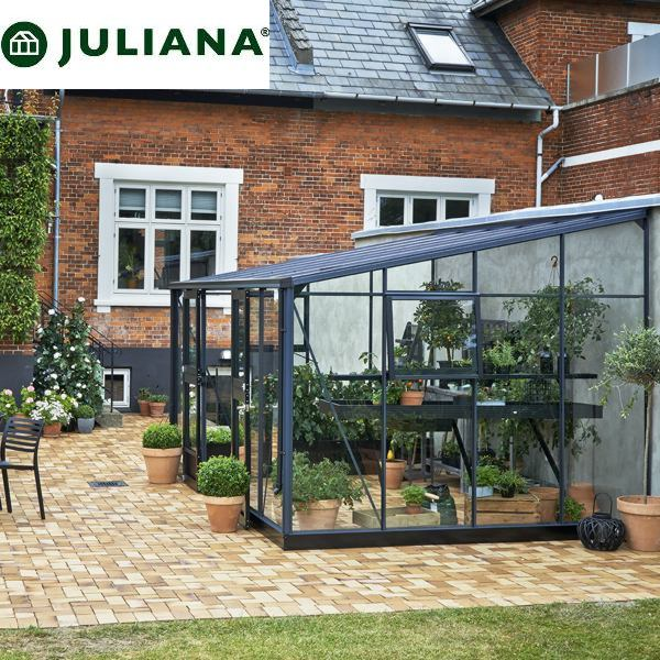 szklarnia juliana duńska model veranda 12,1 m2 czarna
