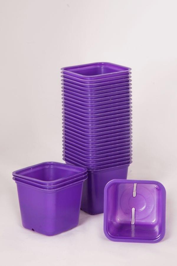 doniczki fioletowe kwadratowe 800105