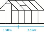 szklarnia qube 5,1m2 wymiary